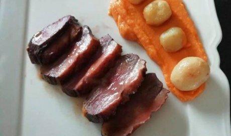 Plats avec des produits bruts et locaux en restaurant gastronomique Paray-le-Monial